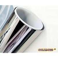 Solar Tec 300 x 76 cm - Pantalla universal para protección solar, lámina de espejo con una protección UV del 99% y un 78% de reducción del brillo, superficie de espejo muy brillante, resistente y autoadhesiva para la instalación interior y exterior, vidrio