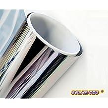 Original Solar de Tec® Universal protección solar Espejo Pantalla 99% de protección UV 78% Reducción del brillo hochglanzverspiegelt antiarañazos autoadhesiva para interiores y exteriores montaje, vidrio, 300 x 76cm