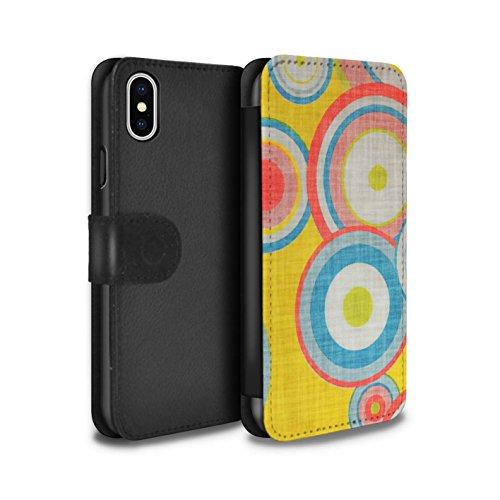 Stuff4 Coque/Etui/Housse Cuir PU Case/Cover pour Apple iPhone X/10 / Années 80/1980 Design / Modèle Décennie Collection Années 80/1980