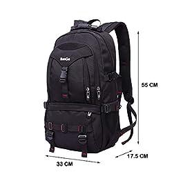Zaino Università Uomo Grande Volume Nero Backpack Laptop Impermeabile Zaini per Computer 17 Pollici da Viaggio Sportivi, 40l