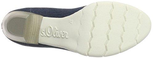 s.Oliver 22406, Scarpe con Tacco Donna Blu (JEANS 845)