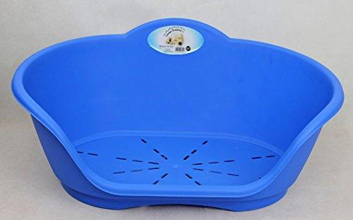 Sweet Dreams PLASTIC HEAVY DUTY PET BED- DOG,CAT,ANIMAL,SLEEP,BASKET,MEDIUM,LARGE,X-LARGE (Medium, Blue) 6