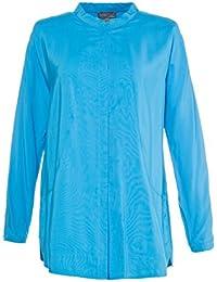 100 Sheego Shirt Sweatshirt Langarm Gr 44//46-52//54 Blau mit Ausdruck NEU