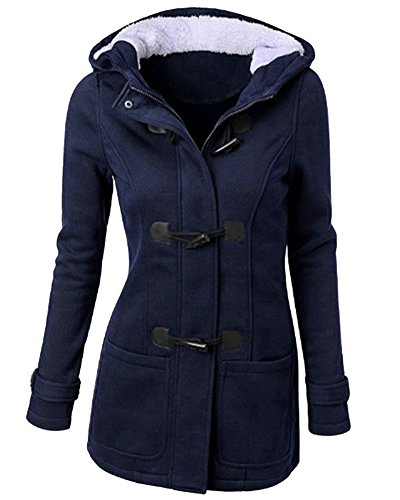 Mujer Invierno Abrigo Casual Sudadera con Capucha Chaqueta de Capa Jacket Parka Pullover Armada L