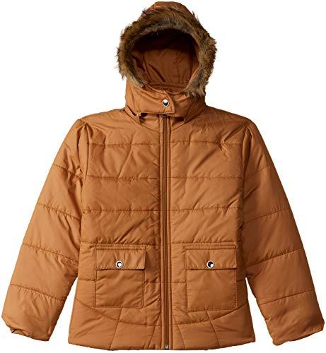 Qube by Fort Collins Girls' Parka Regular Fit Jacket (R18104 SMU_Tan_34)