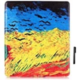 Brain Freezer J Smart-Shell Stand Flip Case Cover With Auto Sleep/Wake For All New Kindle Oasis E-Reader 2017 (7 Inch) Design Sky
