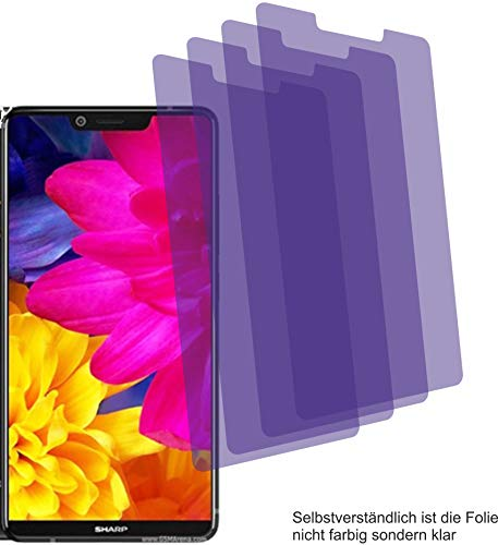 4ProTec 4X Crystal Clear klar Schutzfolie für Sharp Aquos D10 Bildschirmschutzfolie Displayschutzfolie Schutzhülle Bildschirmschutz Bildschirmfolie Folie