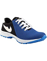 Smoky Blue Coloured Casual Sneakers For Men
