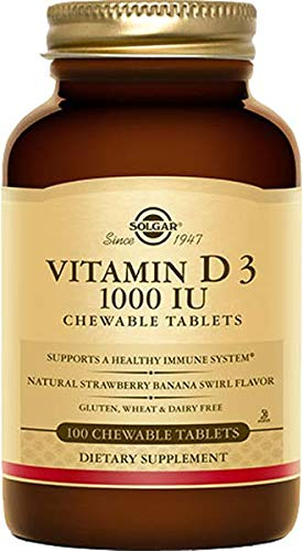 Solgar Vitamin D3 1000iu Chewable Tablets 100 (Natures Plus Chewable Vitamin E)