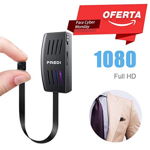 FREDI IP Cámara Cámara Espía/Oculta HD 1080P Spy Mini Wifi Cámara P2P Portátil Inalámbrico / Detección de Movimiento Cámara de Vigilancia Admite tarjeta de hasta 128 GB(no incluye) camara de seguridad