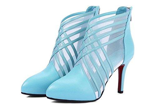 Beauqueen Point-cinghie Scarpin Organza donne casuali del partito del lavoro eleganti sandali Europa Azzurro Bianco Nero formato 34-39 days blue