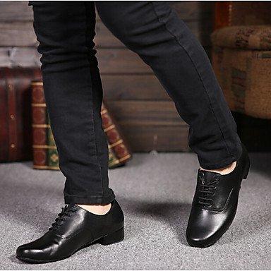 Scarpe da ballo-Non personalizzabile-Da uomo-Balli latino-americani-Basso-Di pelle-Nero Black