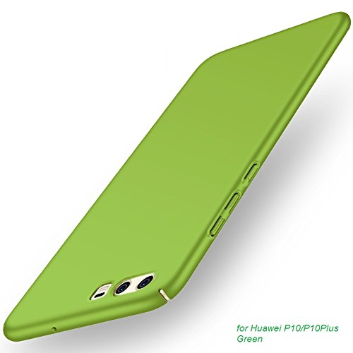 Apanphy HUAWEI P10 Plus Cover, [Alta Qualità] [Ultra Slim] [Hard Silky] [Scrub Shell] [Piena Protezione] [Pelle Posteriore] Custodia per HUAWEI P10 Plus Verde