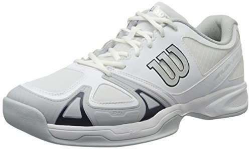 Wilson Damen Rush Evo Tennisschuhe Weiß (White/Pearl Blue/Navy Wil)