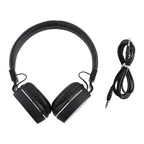 HUANGMENG Auricular con Conector estéreo de 3,5 mm y Sonido Envolvente Plegable con Cable y micrófono
