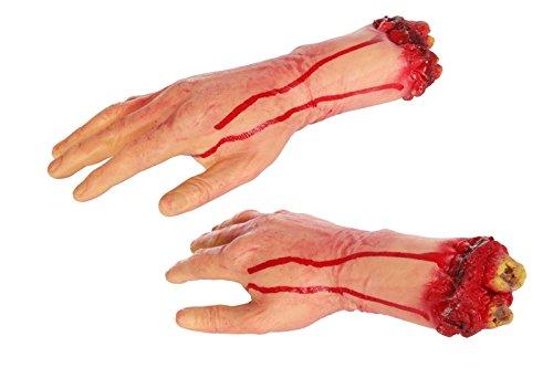 1 HAND blutige KNOCHEN kostüme halloween caranaval fashing -