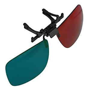 3D Glasses Direct-Clip On 3D Glasses for 3D Movies DVD's and Gaming that Require Red/Cyan Lenses