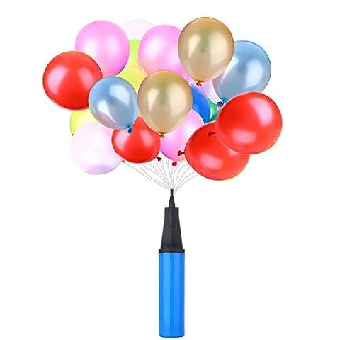 moinkerin 100PCS Buntmix 10 Zoll(25.4cm) Latex Luftballons Ballons Ballon für Party Hochzeit Geburtstag Deko Dekoration + 1x Inflator Luftpumpe Pump Ballonpumpe zufällige Farbe (100PCS Bunte Luftballon + Luftpumpe)