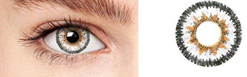 Kontaktlinsen Rezept Farbe (Farbig Weiche kosmetische Kontaktlinsen Karam Silver)