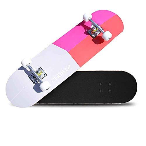 Braumz Allrad Ahorn Holz Skateboard Vitality Board Skateboard Spielzeug Retro Cruiser Deck Perfekt Für Anfänger Kinder Erwachsene Double-Up Professional Roller (Holz-cruiser Skateboard)