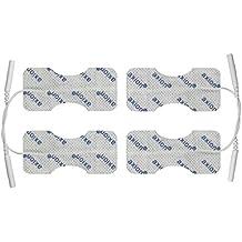 4 elettrodi / pad speciali per dita o polso, per elettrostimolatori TENS EMS con attacco universale a spinotto da 2mm