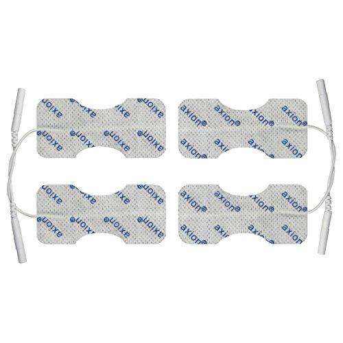 4 electrodos para dedos y muñeca conexión clavija 2mm. Almohadillas para TENS EMS electroestimuladores conexión de clavija 2mm