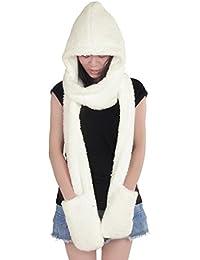 Girl Women Wool Blend Hat 3 in 1 Function Hat / Scarf / Gloves Cute Warm Hot New