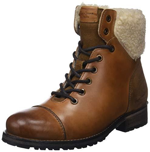Pepe Jeans London Melting Warm, Botines para Mujer, Marrón Nut Brown 877, 36 EU