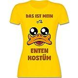 Karneval & Fasching - Das ist Mein Enten Kostüm - M - Gelb - L191 - Damen T-Shirt Rundhals
