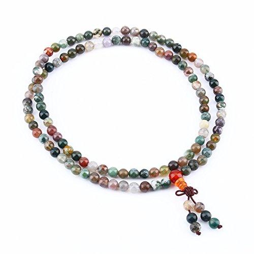 Perla Pulsera de Muñeca Tibetana 108 Multicolor Regalo de Navidad Para Hombre Mujer