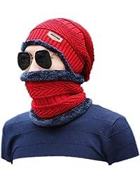 Ericcay Cappello Lavorato A Maglia Inverno Autunno da Uomo Elegante E Unico Cappello  Invernale Capispalla per 34339ca60b5b