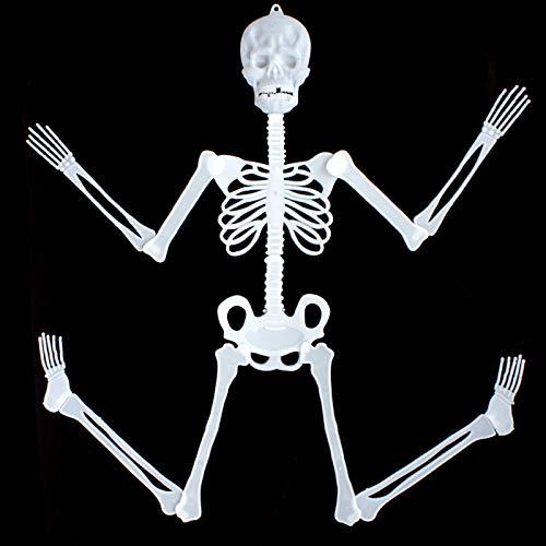 WANGSAURA Halloween Dekor Skelett Bausatz Leuchtendes Hängendes Menschliches Halloween Dekoration Ganzkörper Horror Skeleton Ghost Festival Liefert Bar KTV