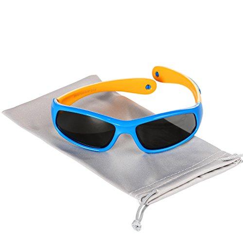 Hifot Baby Junge Mädchen Sonnenbrille, UV Schutz polarisierte Kleinkind Sonnenbrille, Flexible Kinder Sonnenbrillen - Alter 6 Monate bis 3 Jahre