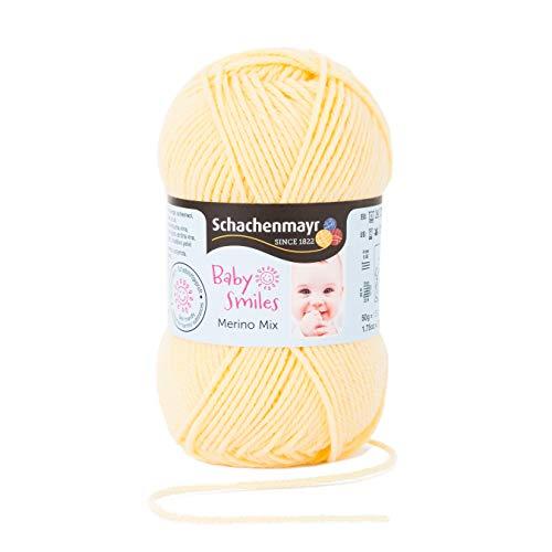 Schachenmayr Baby Smiles Merino Mix 9807561-01021 vanilla Handstrickgarn, Häkelgarn, Babygarn (Extra Weiche Wolle-mischung Garn)