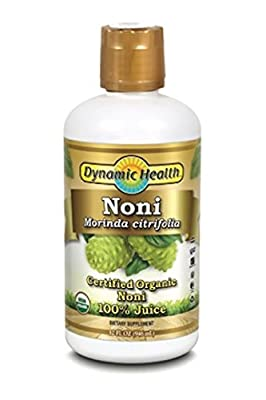 Dynamic Health 946ml 100 Percent Pure Organic Noni Juice - Pack of 2 by Dynamic Health