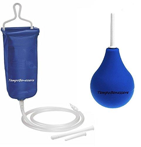KIT Irrigator – Klistier – Enema 2 Liter + Klistierspritze 224 ml – TempoBenessere