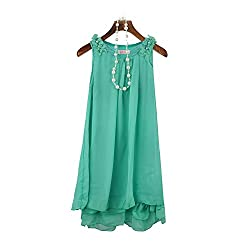 Girls Princess Dress, Transer® Kids Lovely Chiffon Dress Girls Casual Lace Dresses Kids Sleeveless Princess Dress