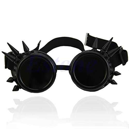 Brille Vintage viktorianisch Gothic Cosplay Nieten Steampunk Brille Schweißen Punk Schwarz