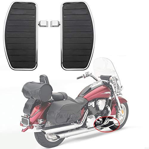 Artudatech Pedane Moto, Metallo Anteriori e Posteriore Pedane Moto Poggiapiede Poggiapiedi Footrest Footpeg per HON-DA VTX 1800 1300 per Yamaha V-STAR XVS400 XV250