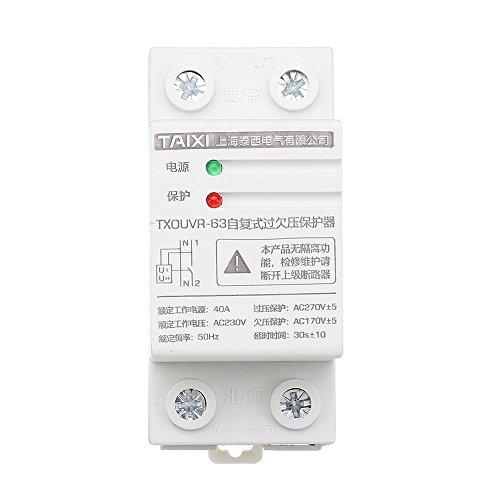 SGerste TAIXI TXOUVR-63 AC230V 40A Self Reset Contactor DIN-Schiene Über- und Unterspannungsschutz