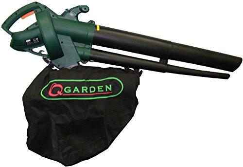 Q Garden QGBV2500 Leaf Blower Vacuum - Green/Black