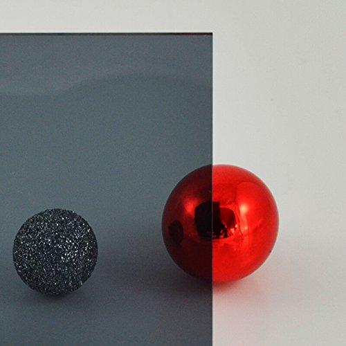 duschwand plexiglas PLEXIGLAS® grau 7C83 GT, Lichtdurchlässigkeit 21% - transparentes, getöntes PLEXIGLAS® Maße: 50 x 25 x 0,3 cm