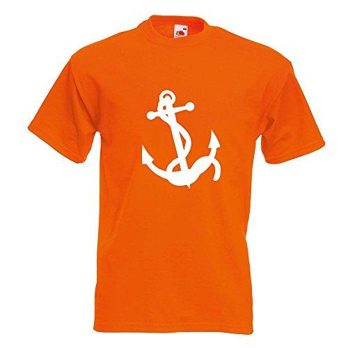 KIWISTAR - Anker Motiv3 T-Shirt in 15 verschiedenen Farben - Herren Funshirt bedruckt Design Sprüche Spruch Motive Oberteil Baumwolle Print Größe S M L XL XXL Orange