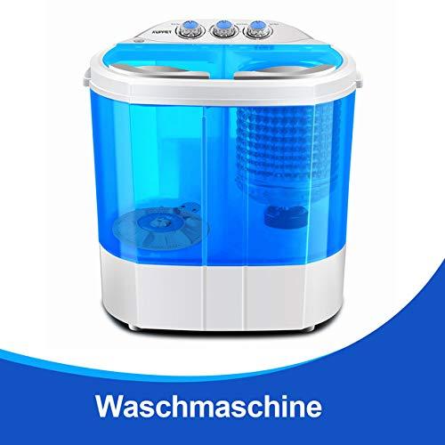 KUPPET Tragbare Waschmaschine, Mini-Waschmaschine für Single Waschmaschine mit Trockner und Schleuder Campingwaschmaschine billig (Blau, 4,5KG)
