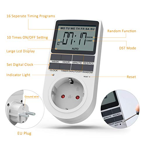 Zoom IMG-2 tedgem presa temporizzata timer digitale
