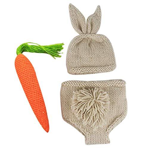 ACAMPTAR Neugeborenes Baby Fotografie Requisiten Infant Junge M?Dchen Knit Rabbit Foto AusrüStung