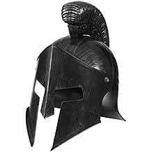 Antike Römerhelm Sparta 300 Soldatenhelm silber Römer Gladiatorenhelm Gladiator Helm Karnevalskostüme Accessoires Gladiatoren Kopfbedeckung Achilles Gladiatorhelm
