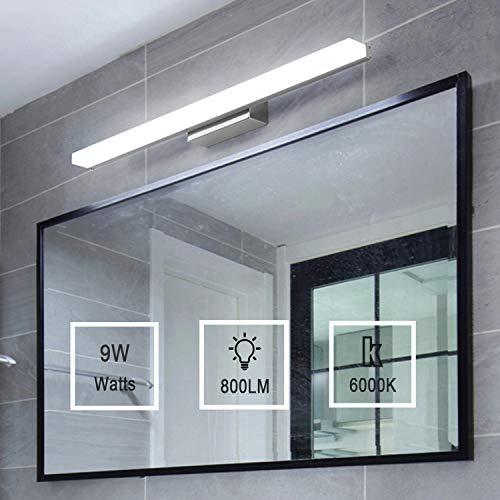 Yafido Aplique Espejo Baño Interior LED 40CM luz Baño Lámpara de Pared Espejo Iluminación para Maquillaje...
