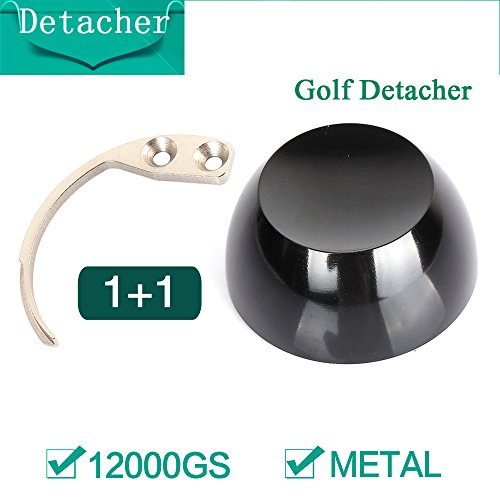 EAS Sistema Golf Detacher 12000 GS Super magnetico Sicurezza Tag Remover + 1pc Tag Hook Detacher chiave di sicurezza, nero