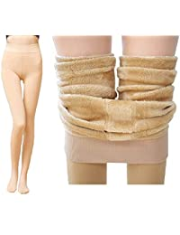 Alexvyan Warm Women Thick Fur Lined Fleece Legging Warm Winter Thermal Soft Leggings